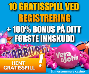 VERA & JOHN – 10 GRATIS SPINNS PÅ Starburst